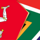 Isle of Man and South African flags